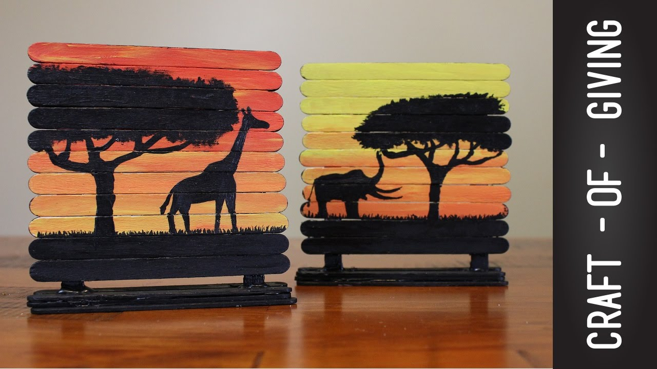 Arts and crafts sticks - Craft Stick Art Canvases Craft Of Giving