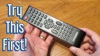 Hitachi 43HK25T7 TV Remote Control