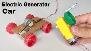 How to Make a Car - DIY Electric Generator Car - Tutorial