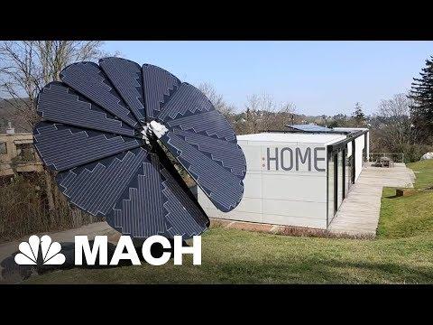 'Smartflower' Petals-Shaped Solar Panel Array Follows The Sun | Mach | NBC News