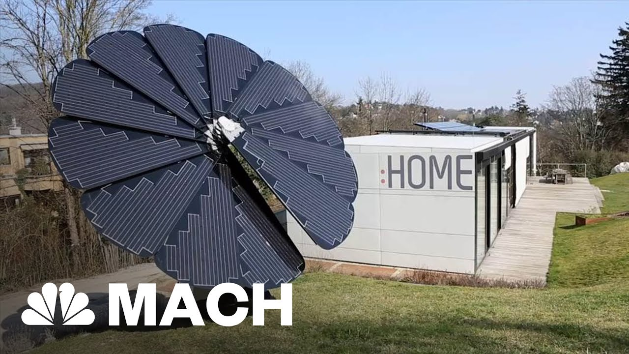 Smartflower Petals Shaped Solar Panel Array Follows The