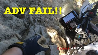 Tenere Crash - Hill Climb FAIL!