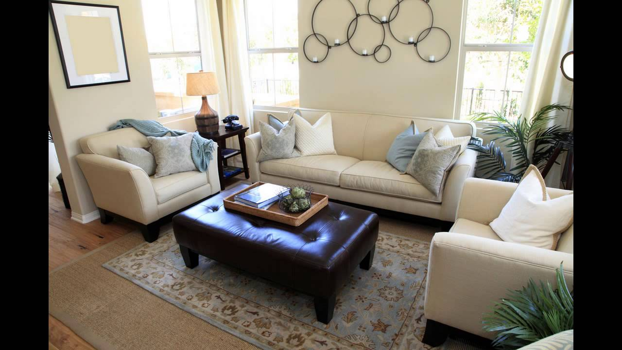 brown leather sofa accent chair pelicula argentina cama living room staging ideas - youtube