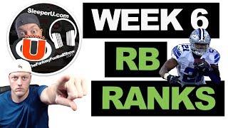 2019 Fantasy Football - Week 6 Running Back Rankings.. Start or Sit