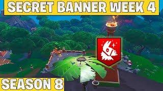 Secret banner week 4 - Saison 8 Fortnite - Secret star remplacé