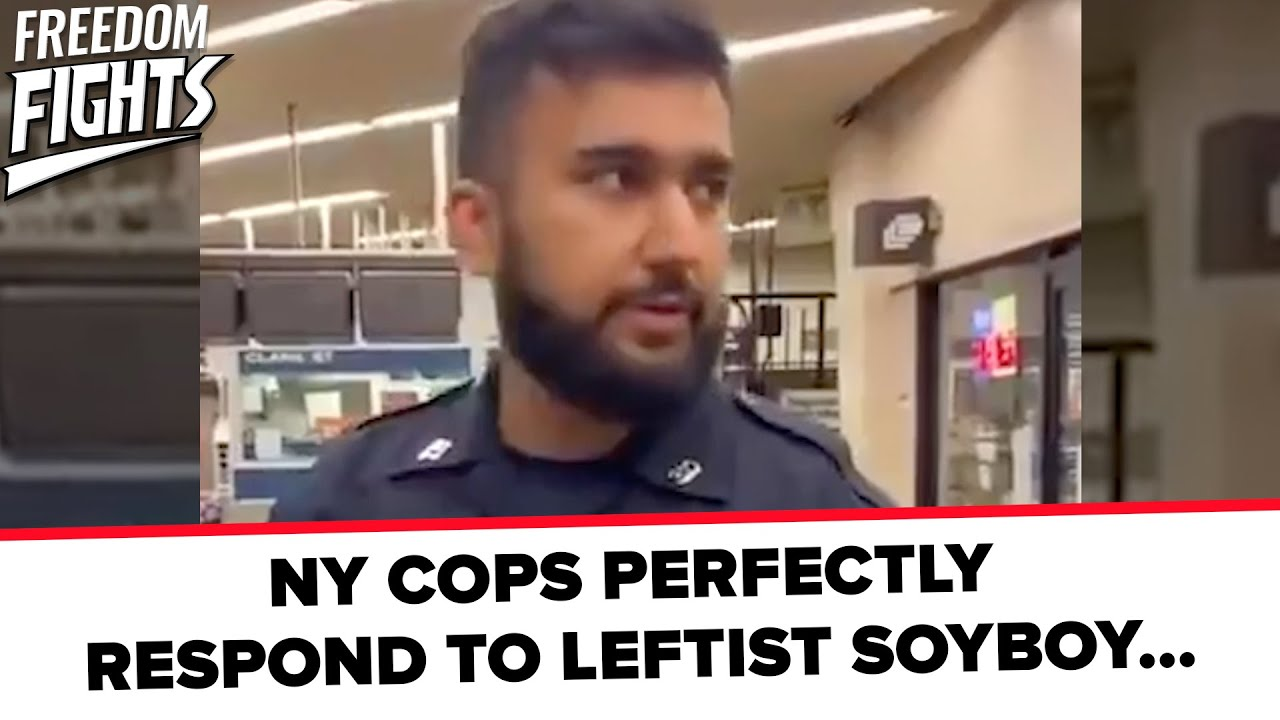 NY COPS PERFECTLY RESPOND TO LEFTIST SOYBOY...