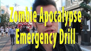 Zombie Apocalypse Emergency Drill #4 at the Grove
