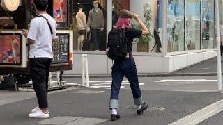 Японские джинсы и деним. Уличная мода и шоппинг в Токио. Японский бомбер скаджан и сэлведж деним.