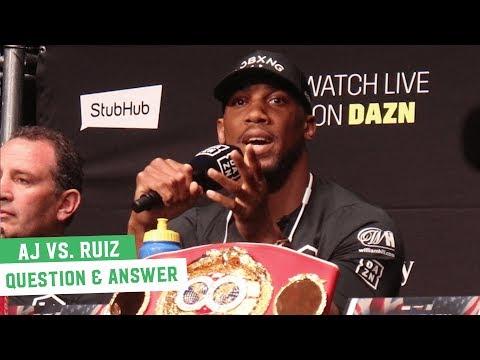 Anthony Joshua vs. Andy Ruiz Jr. | Question & Answer