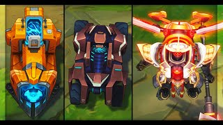 All Mecha Skins - Mecha Kingdoms Pacific Rim Jaegers & Mecha Transformers (League of Legends)