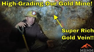 Gold Mine High Grading, Hammer Mill Maintenance, Ore Processing, Gold Smelting & Refining