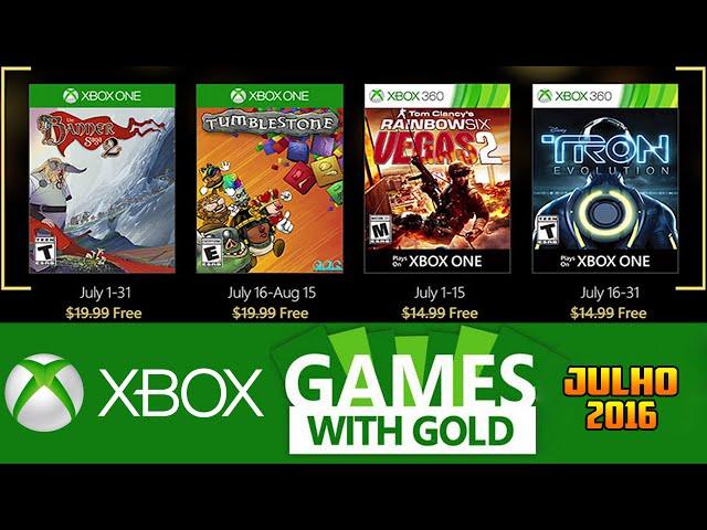 Jogos GrÁtis Xbox Live Gold De Julho 2016 (xbox 360 / Xbox One)