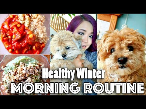 MORNING ROUTINE (HEALTHY RECIPES | WINTER 2016)