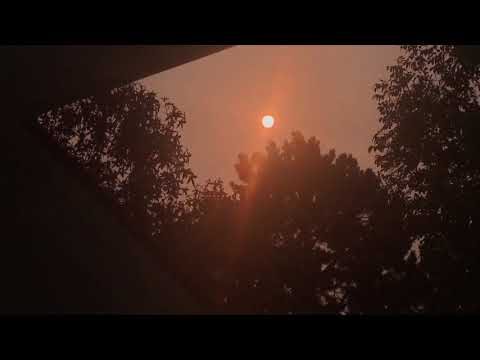 DAY 2 GERMANY RED ORANGE SUN MID-DAY!! October 17, 2017