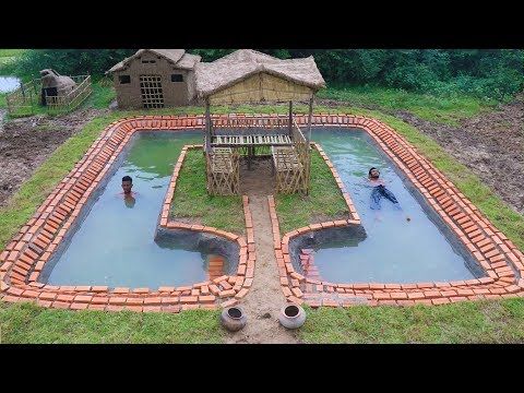 BUILD SWIMMING POOL AROUND THE HUT. Part 1