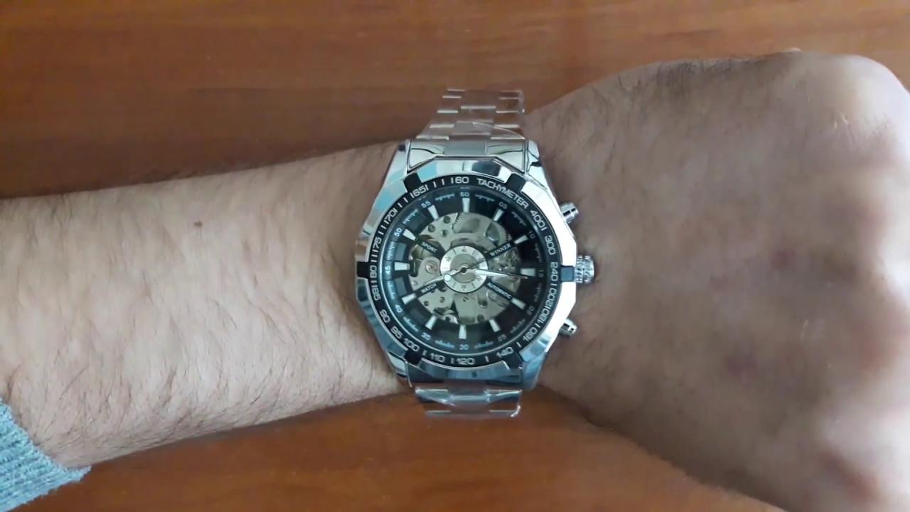 273aa976 Механические часы скелетоны Winner Steel Skelet. Мужские наручнеы часы