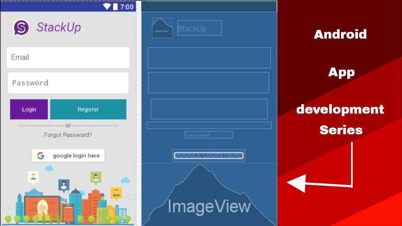 Android app development tutorial 18 android xml layout for App layout design online