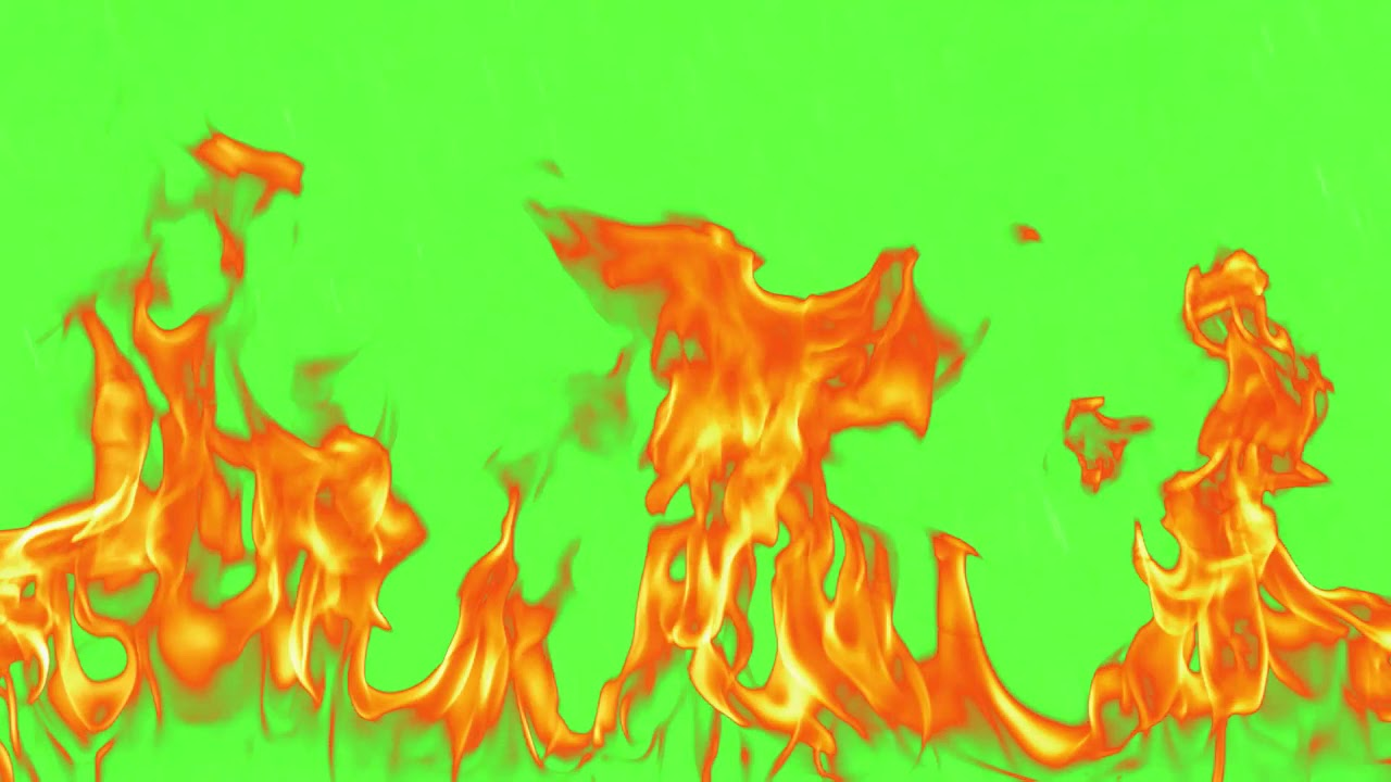 Green Screen Animated Fire    No copyright - YouTube