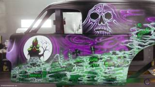 Final Phase of Painting Grave Digger