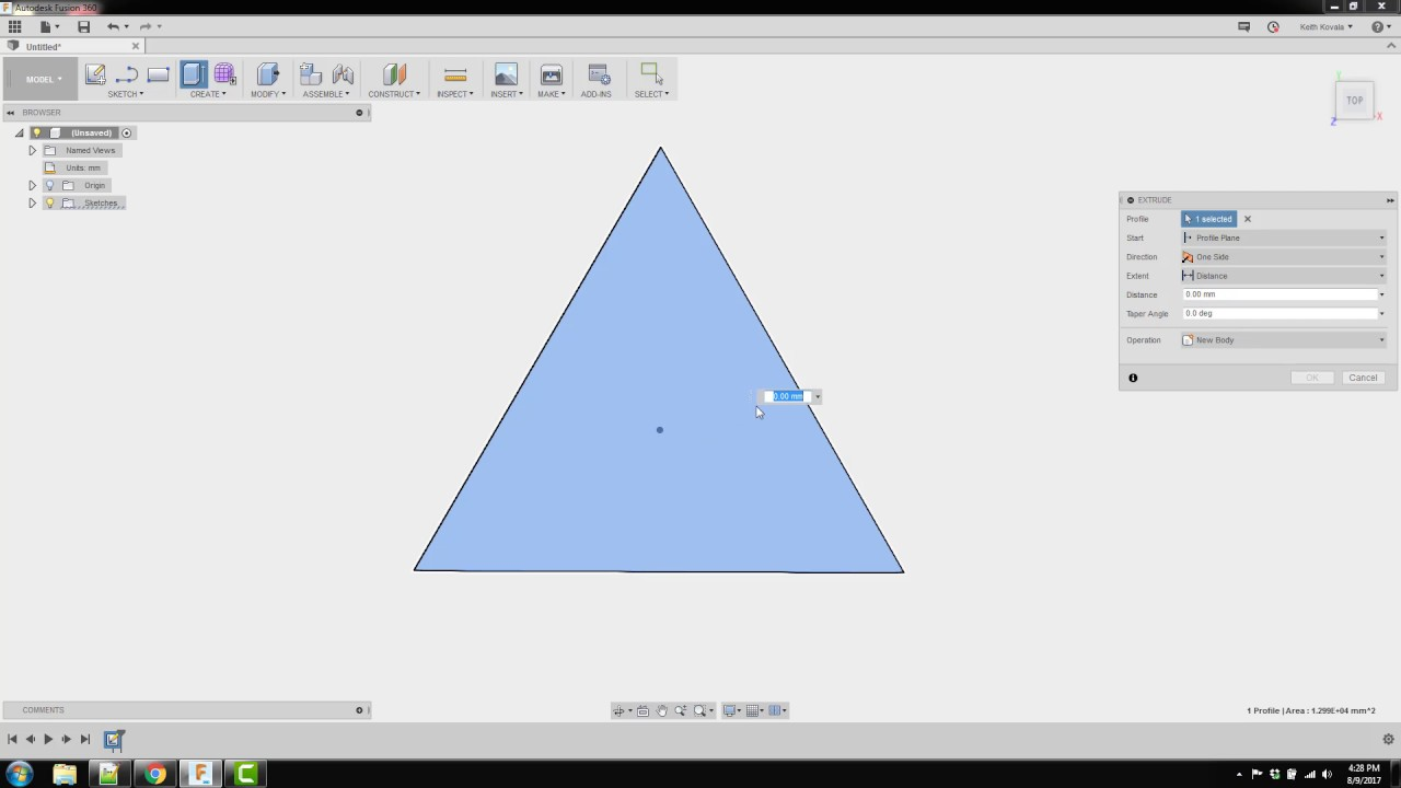 fusion 360 3 sided pyramid youtube