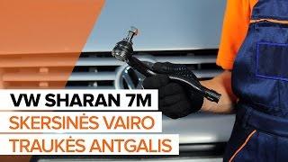 Kaip pakeisti skersinės vairo traukės antgalis VW SHARAN 7M PAMOKA | AUTODOC