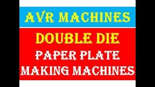 Full Information of Smallscale cottage Industry of Paper plate Rawmatrial Making Machine