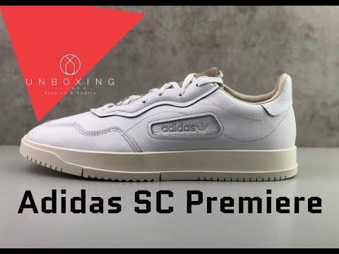 adidas-sc-premiere-'ftwr-wht/crystal-white/chalk-white'-|-unboxing-&-on-feet-|-fashion-shoes-|-2019