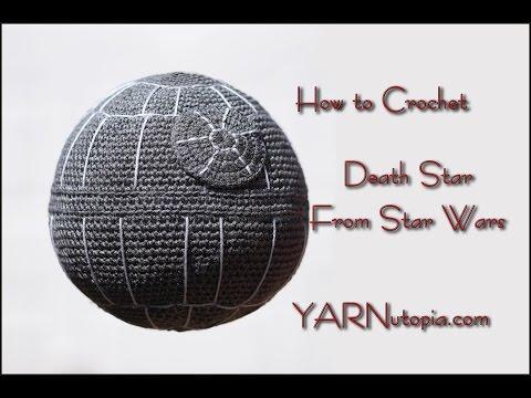 Crochet Tutorial: Death Star Pillow from Star wars