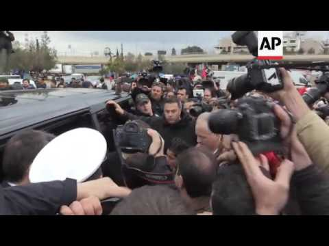 US actress Jolie visits migrants in Athens