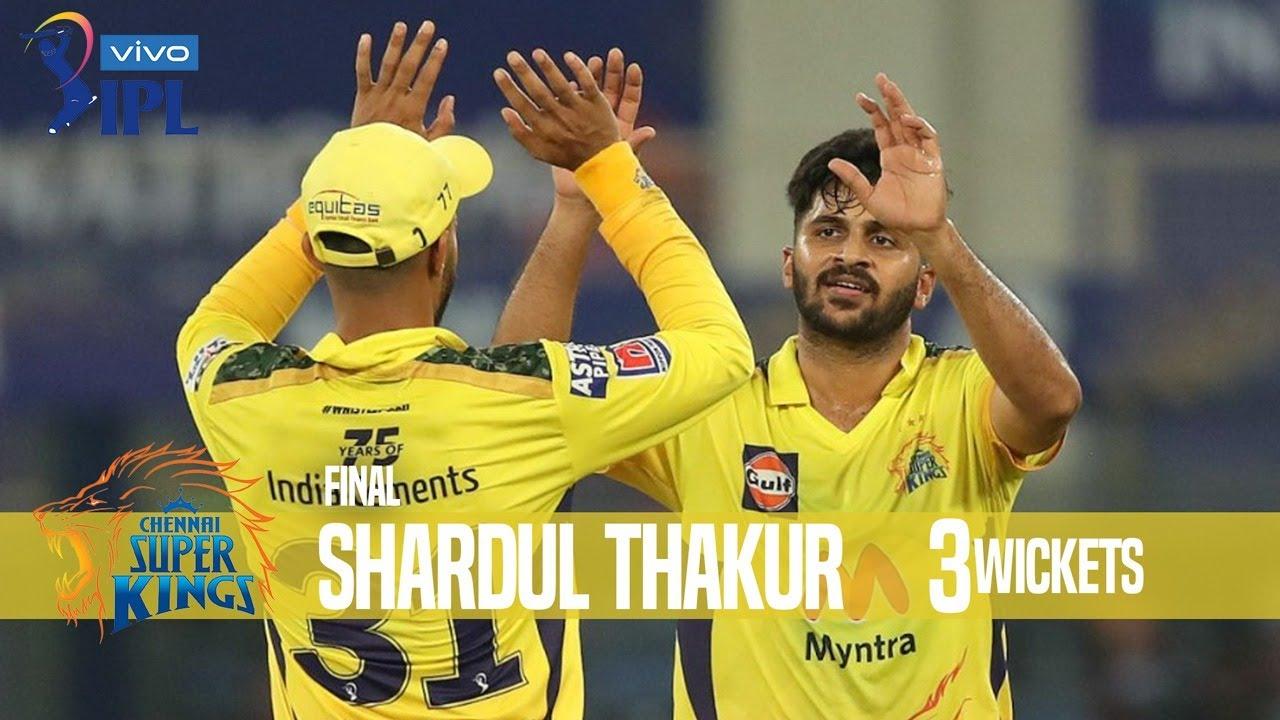 Shardul Thakur's 3 Wickets Against Kolkata Knight Riders | Final  | Indian Premier League 2021