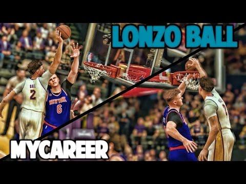 LONZO NASTIEST DUNK YOU WILL EVER SEE - NBA 2K17 LONZO BALL MyCareer
