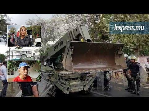 Metro Express: Atmanand Moorar en larmes après l'arrivée d'un bulldozer