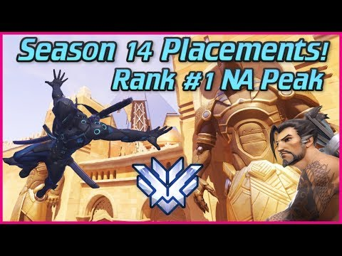 🔴 Overwatch Season 14 Placements! Rank #1 NA Peak -- Educational Gameplay! thumbnail
