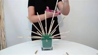 Tutorial: Fan shape principle/ Nguyên tắc cắm hình quạt