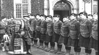 Douglas Haig officiates the ceremony to appoint Rudyard Kipling as the Rector of ...HD Stock Footage