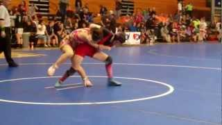 Sarah Phillips LANCER YOUTH vs Alesha Zappitella OHIO, USAW Nats 3-24-2012.