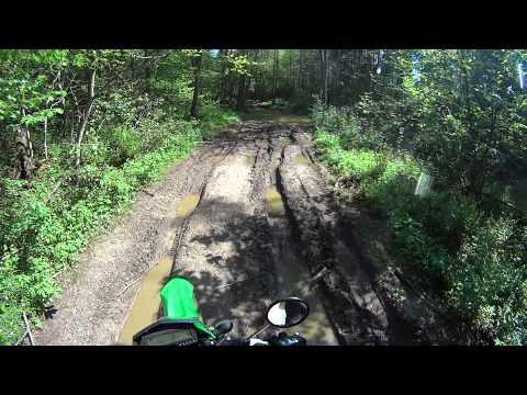 2014 Kawasaki klx 250 trail riding. part 1.