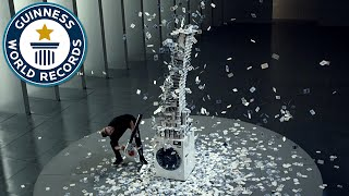 Tallest house of cards in 12 hours - Guinness World Records
