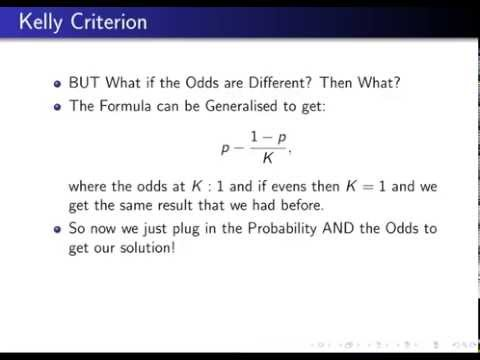 Kelly criterion options trading