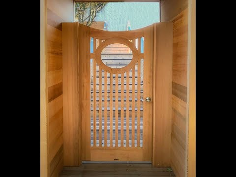 A Cedar Garden Gate built to last