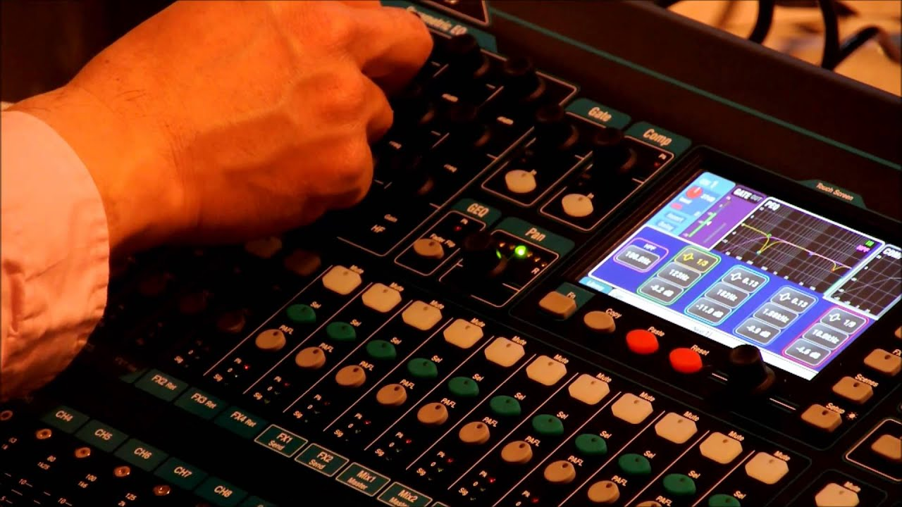 allen heath qu 16 digital mixer training in chinese part 1 microphone input setup youtube