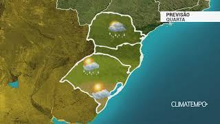 Previsão Sul - Calor e pancadas de chuva
