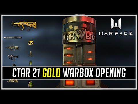 Warface CTAR 21 Gold Warbox Opening