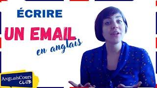 Ecrire un email en anglais