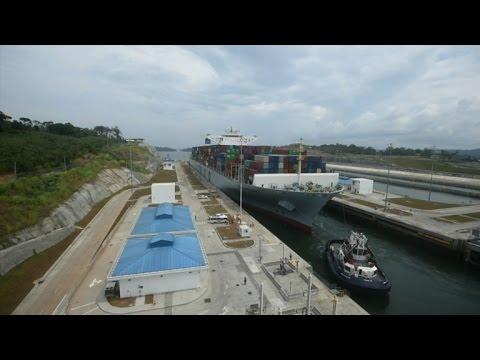 Hong Kong ship biggest ever to pass through Panama Canal