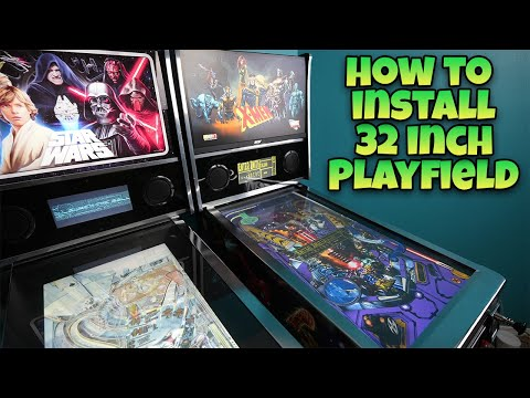 """Arcade1Up Pinball Mod - How To Install 32"""" Monitor from COOLTOY"""