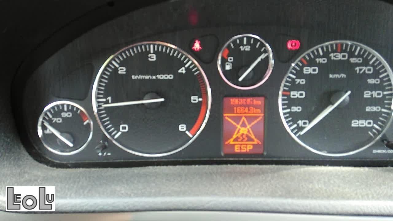 peugeot 407 sw abs esp warning light