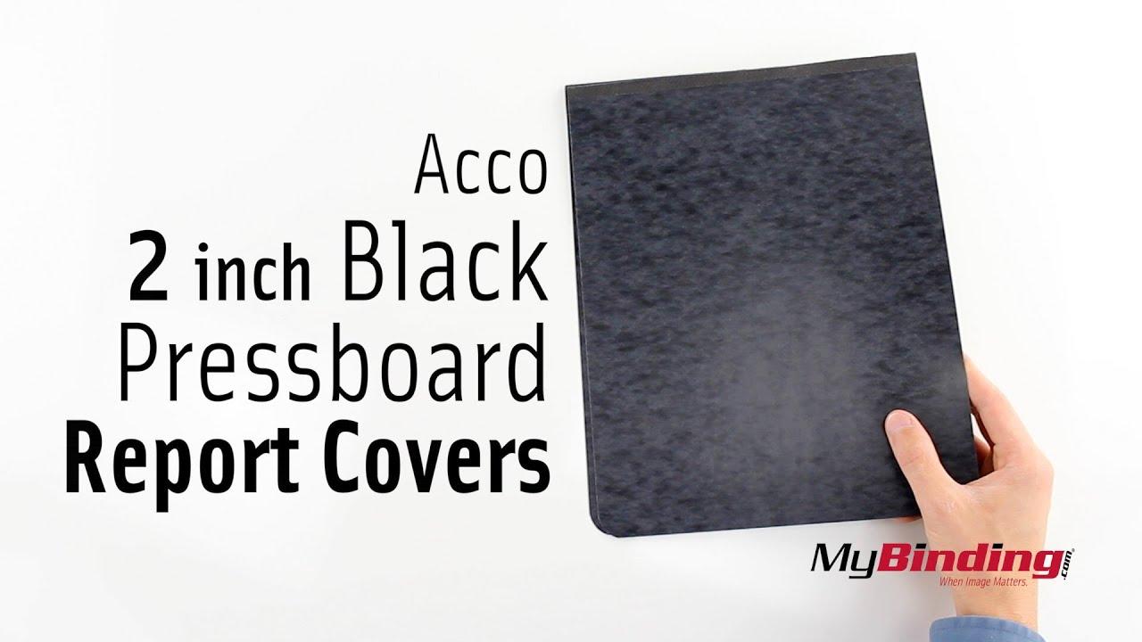 acco 2 inch black pressboard report covers youtube