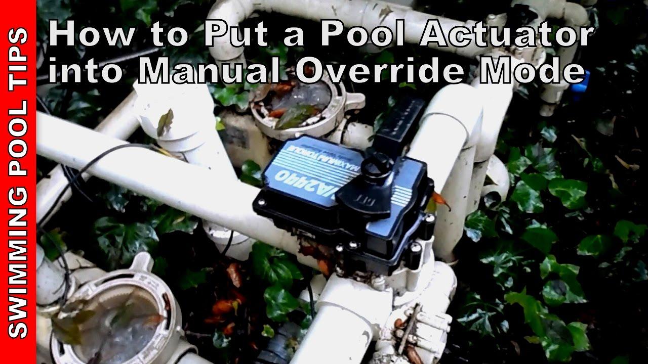 pool valve actuator manual mode manual override part 1 of 2 [ 1280 x 720 Pixel ]