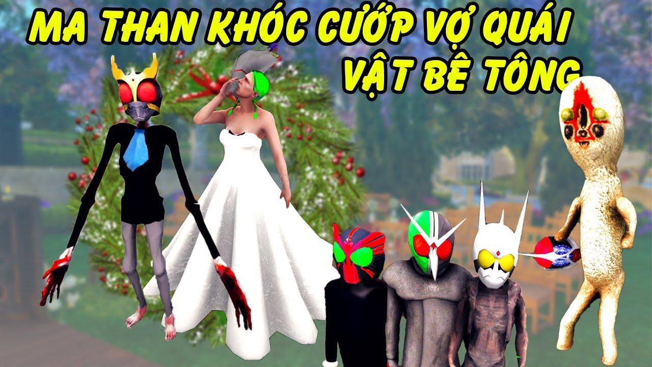 GTA 5 - 5 Siêu nhân SCP - Ma than khóc cướp người yêu khiến Quái vật Bê tông phá đám cưới | GHTG